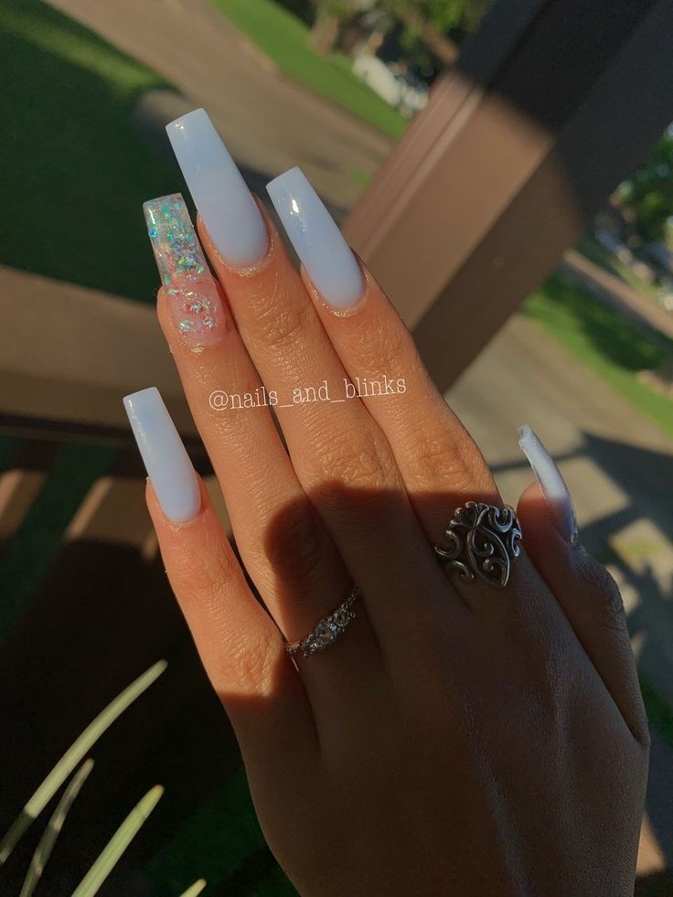 66 Beautiful Blue Acrylic Nails Ideas That Are Trending This Year Sohotamess
